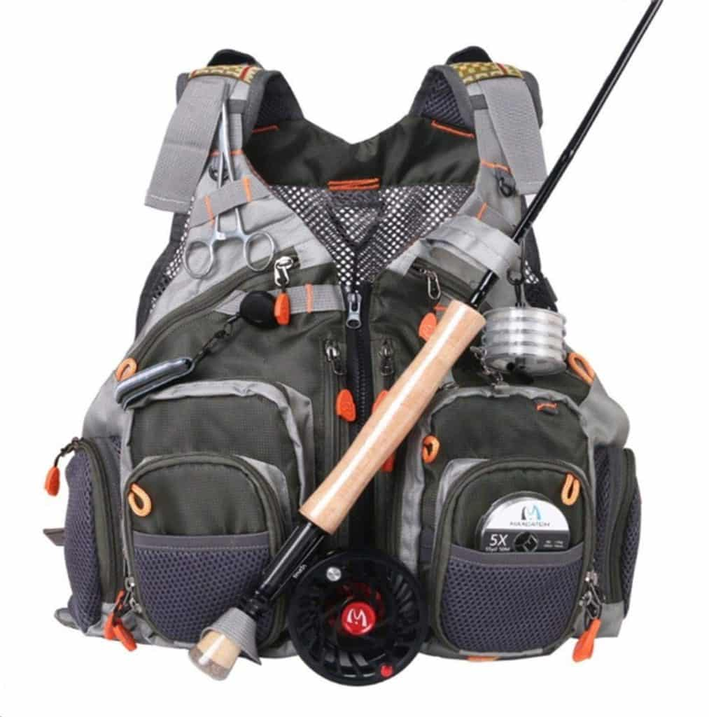 f230016dba17 4. MaxCatch Fly Fishing Vest  The MaxCatch vest is like a typical fly  fishing vest that s been shot up with all the steroids. I can guarantee  this vest will ...